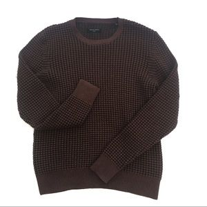 Men's Allsaints Eydon Crew Brown Black Jumper L